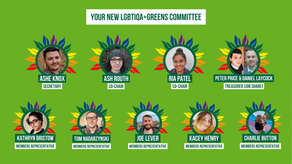 Profile pictures of the new LGBTIQA+ Greens committee