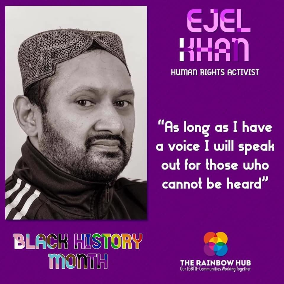 """As long as I have a voice I will speak out for those who cannot be heard"", Ejel Khan speaking on Black History Month"