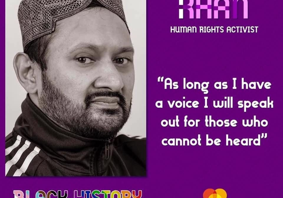"""""""As long as I have a voice I will speak out for those who cannot be heard"""", Ejel Khan speaking on Black History Month"""